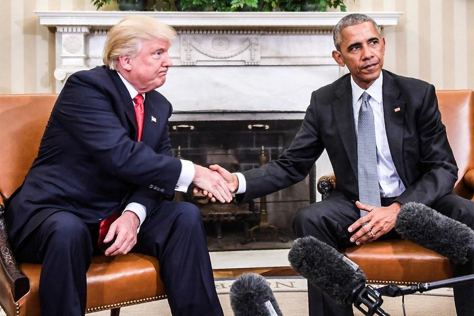 Obama accoglie Trump alla Casa Bianca dopo le elezioni di novembre. (Jim Watson/AFP/Getty Images)