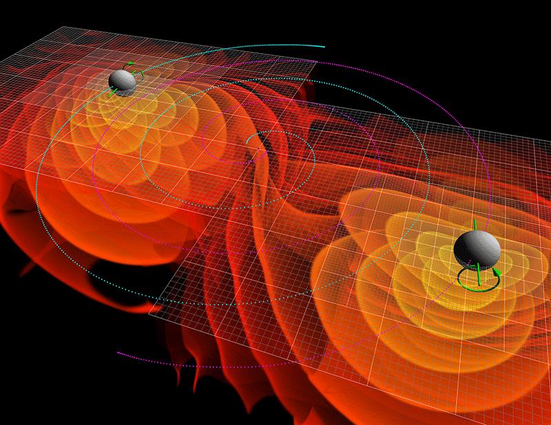 onde gravitazionali urto buchi neri